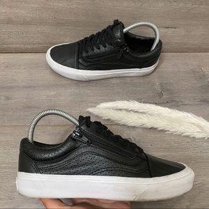 Vans Perf Leather Old Skool Zip Sneakers